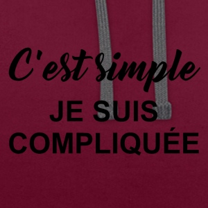 c est simple - Sweat-shirt contraste