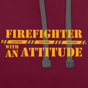 Fire Department: Firefighter with an Attitude - Contrast Colour Hoodie