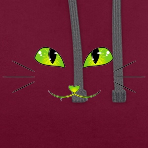 yeux de chat - Sweat-shirt contraste