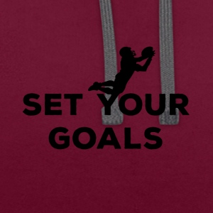 Football: Set your Goals - Contrast Colour Hoodie