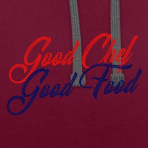 Koch / Chefkoch: Good Chef - Good Food - Kontrast-Hoodie