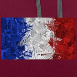 French flags. - Contrast Colour Hoodie