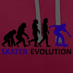 ++ ++ Skater Evolution - Contrast Colour Hoodie