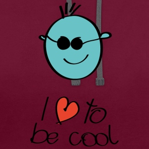 Smilie cool - Contrast Colour Hoodie