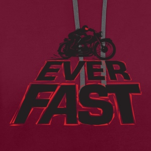 Fast_2 - Contrast Colour Hoodie