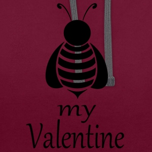 Bee my Valentine - Contrast Colour Hoodie
