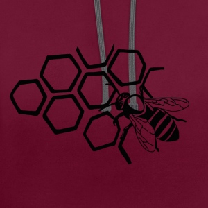 Bee - Contrast Colour Hoodie