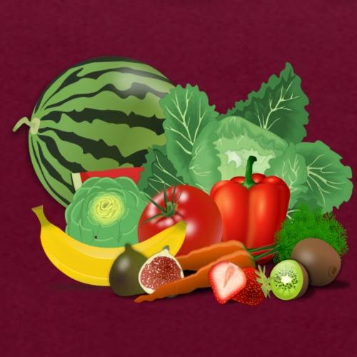 Vegetarian or vegetables lover? Print Design - Contrast Colour Hoodie