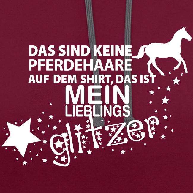 Vorschau: Glitzer Pferd - Kontrast-Hoodie