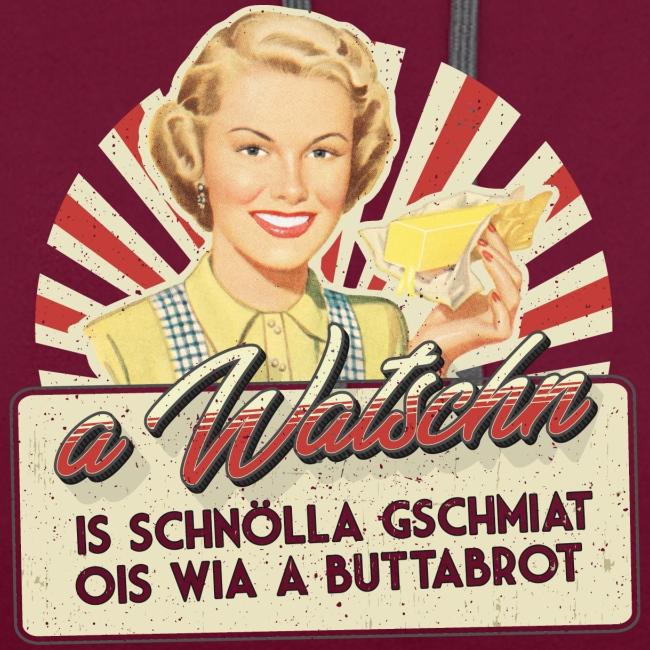 Vorschau: A Watschn is schnö gschmiat - Kontrast-Hoodie