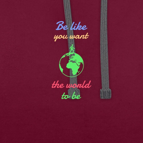 Caring About climate? Save The Planet Print Design - Contrast Colour Hoodie