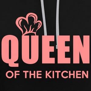Queen of the Kitchen - Contrast Colour Hoodie