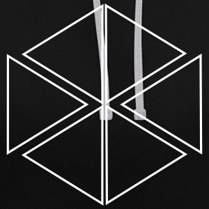motif triangulaire - Sweat-shirt contraste