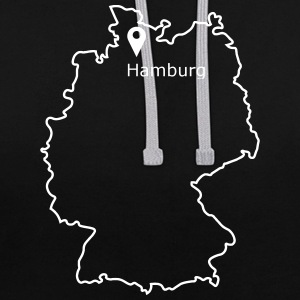 place to be: Hamburg - Kontrast-Hoodie