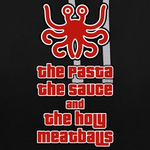 THE PASTA THE SAUCE AND THE HOLY MEATBALLS - Contrast Colour Hoodie