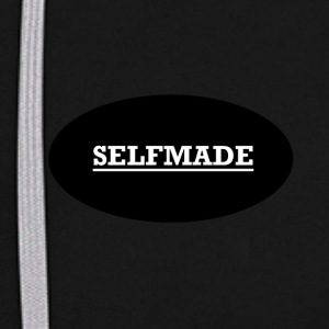 self made - Bluza z kapturem z kontrastowymi elementami