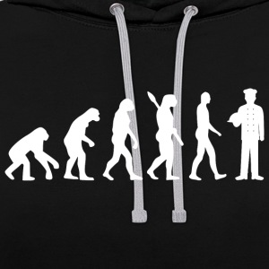 Evolution cuisine cuisiner chef blanc - Sweat-shirt contraste