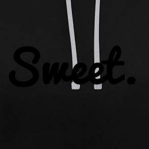 Sweet. - lettering - Contrast Colour Hoodie