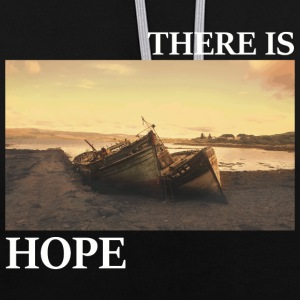 There_is_hope_picture_white_letters - Kontrast-Hoodie