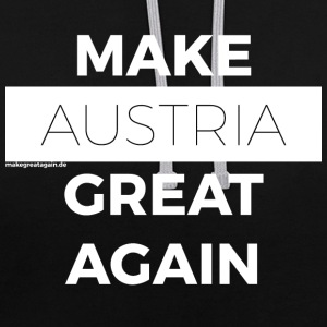 MAKE AUSTRIA GREAT AGAIN white - Contrast Colour Hoodie