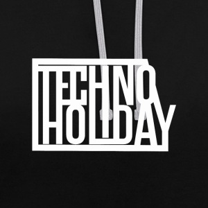 techno Holiday - Contrast hoodie