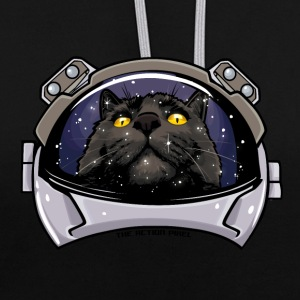 Kitty Cat Cosmos - Contrast Colour Hoodie