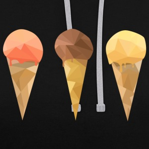 Low Poly Icecream - Contrast Colour Hoodie