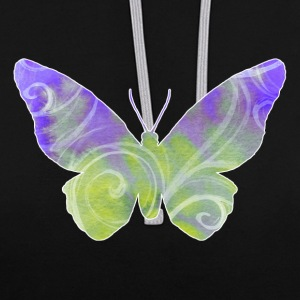 butterfly - Contrast Colour Hoodie