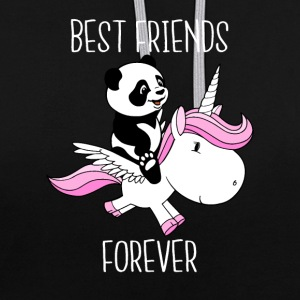 Best friends forever - Sweat-shirt contraste