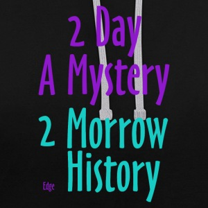 2_day_a_mystery - Kontrast-Hoodie