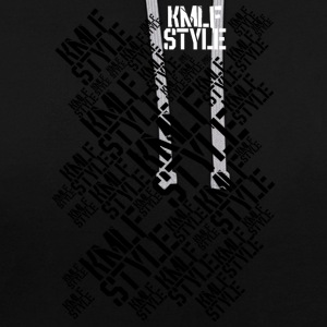 KMLF-STYLE-graphics-long - Contrast Colour Hoodie