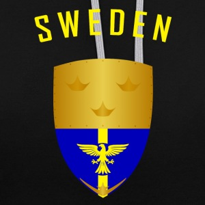 SWEDEN CROWNS SHIELD - Contrast Colour Hoodie