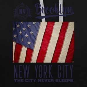 New York · Brooklyn - Kontrast-hettegenser