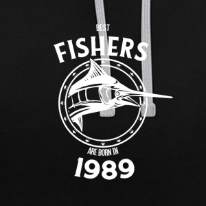 Present for fishers born in 1989 - Contrast Colour Hoodie
