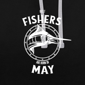 Present for fishers born in May - Contrast Colour Hoodie