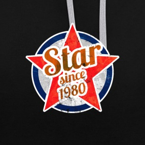 Gift for Stars born in 1980 - Contrast Colour Hoodie