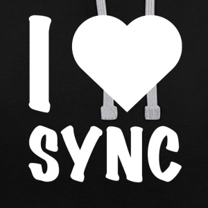 DJ - I Love Sync - Sweat-shirt contraste