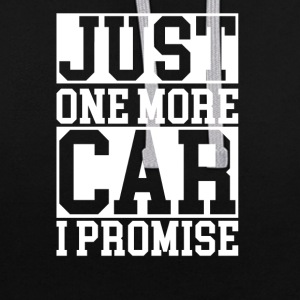 just one more car - Contrast Colour Hoodie