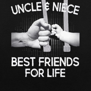 Uncle and Niece Best friends for life shirt - Contrast Colour Hoodie