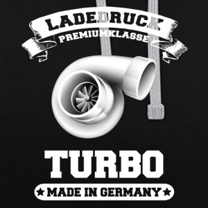 Ladedruck Turbo Made in Germany - Kontrast-Hoodie