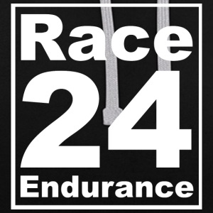 Race24 Logo - White - Contrast Colour Hoodie