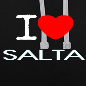I LOVE SALTA - Contrast Colour Hoodie