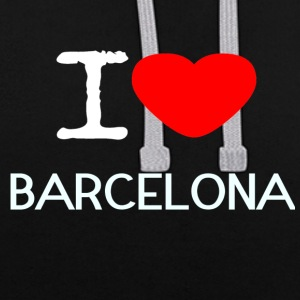 J'AIME BARCELONA - Sweat-shirt contraste