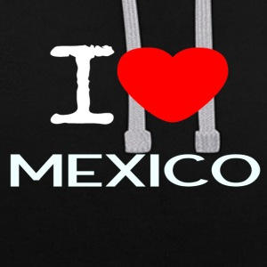 I LOVE MEXICO - Contrast Colour Hoodie