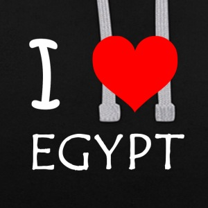 J'aime l'Egypte - Sweat-shirt contraste