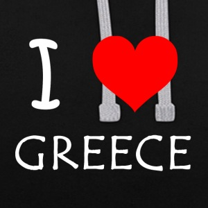 I Love Greece - Sweat-shirt contraste