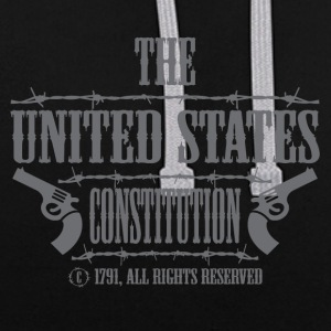 The Amerikanschische Constitution - Contrast Colour Hoodie
