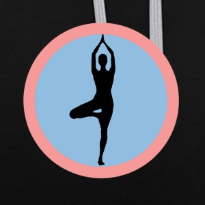 YOGA POSTIVE VIE T-SHIRT - Sweat-shirt contraste