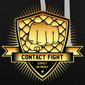Contact Fight Gold - Kontrast-Hoodie