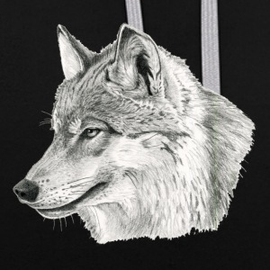 Canis_lupus - Sweat-shirt contraste